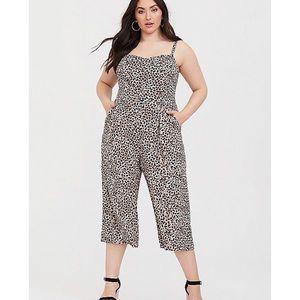 Leopard Challis Culotte Jumpsuit